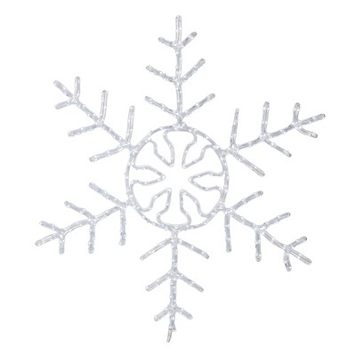 """60"""" LED 400Lt Forked Snowflake - Pure White"""