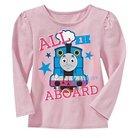 Thomas the Tank Engine Toddler Girls' Long Sleeve T-Shirt - Light Pink 2T