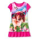 Girls' Dog Nightgown - Pink M