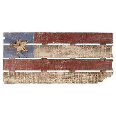 "Carson Vintage Wood Flag Wall Art - Multi-Colored (17""x36"")"