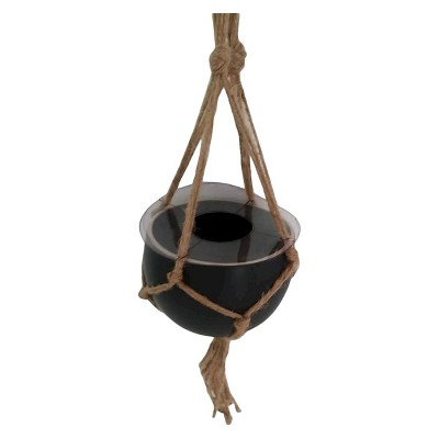 "Threshold™ Hanging Pots with Jute Hanger - Black (4.7"")"