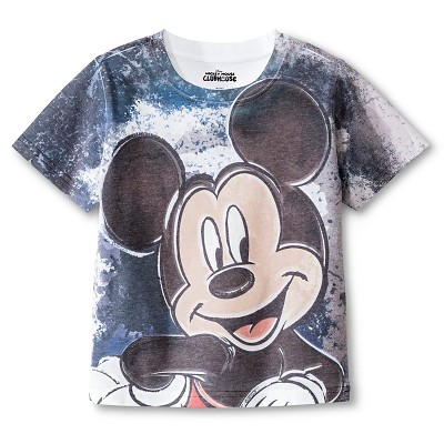 Toddler Boys' Mickey Mouse Tee Shirt - Black 4T