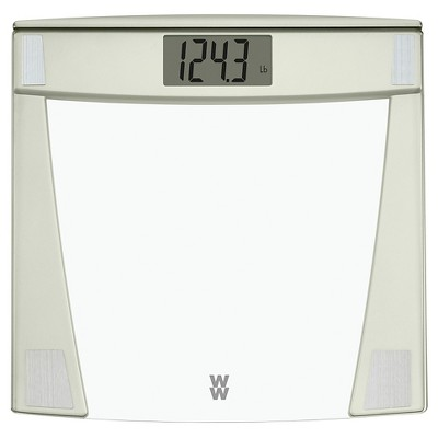 Weight Watchers Decorative Clear Glass Scale -  Champagne
