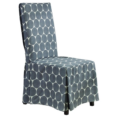 sure fit ikat dot long dining room chair slipcover product details