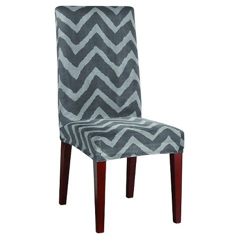 sure fit plush chevron dining room chair slipcover target
