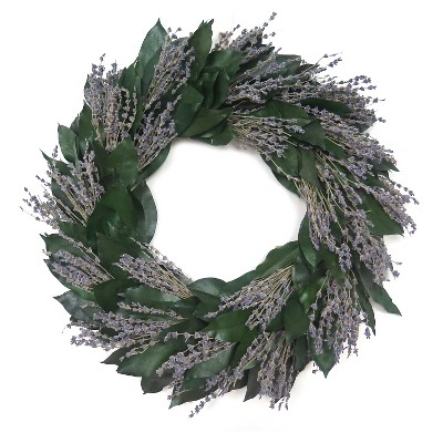Lavender wreath with green leaf - Smith & Hawken™