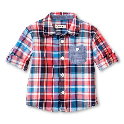 Male Button Down Shirts Mango Berry 18 M