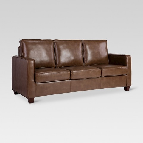 square arm bonded leather sofa threshold product details page