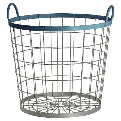 Wire Floor Bin Round Navy - Pillowfort™