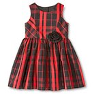 Infant Toddler Girls' Plaid Dress Red - Cherokee®