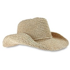 Girls' Cowboy Hat with Glitter - Natural One Size