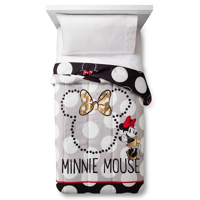 Minnie Mouse® Rock the Dots Comforter - Twin - White&Gold