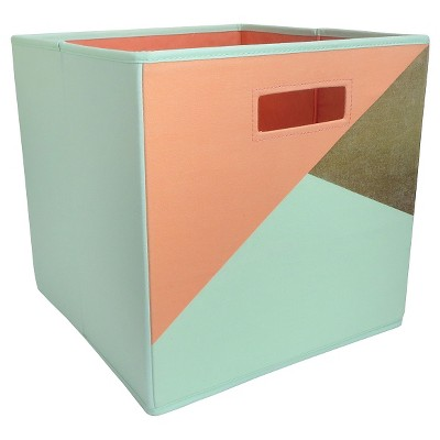 Fabric Cube Storage Bin Geometric - Pillowfort™