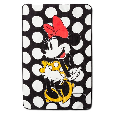 "Minnie Mouse® Rock the Dots Blanket - 62""x90"" - White&Black"
