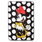 """Minnie Mouse® Rock the Dots Blanket - 62""""x90"""" - White&Black"""
