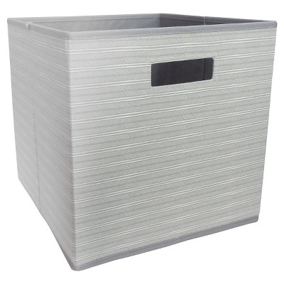 Fabric Cube Storage Bin Gray Feather - Pillowfort™