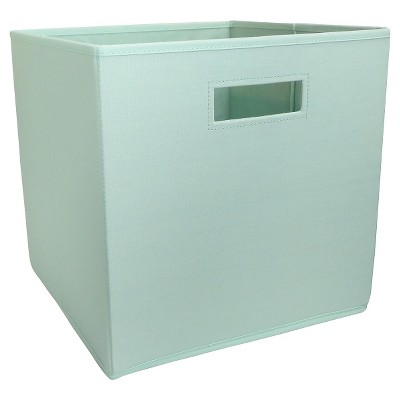 Fabric Cube Storage Bin Mint - Pillowfort™