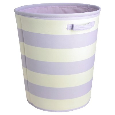 Striped Fabric Floor Bin Round Purple - Pillowfort™