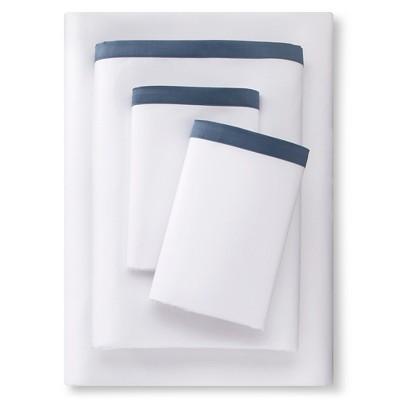 Banded Hem Supima Sateen Sheet Set 290 Thread Count (Queen) Rig Blue - Fieldcrest™