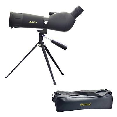 Galileo 20x-60x Zoom x 60mm  Spotting Scope with Sturdy Table Top Tripod - Black