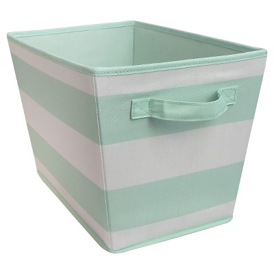Striped Fabric Bin Large Mint - Pillowfort™
