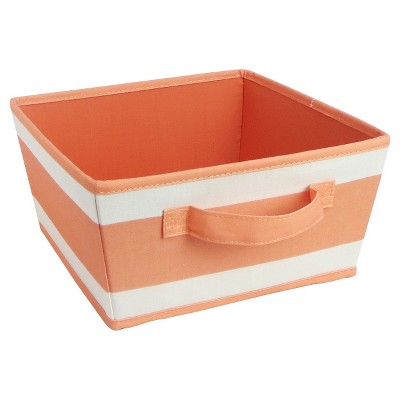 Striped Fabric Bin Small Coral - Pillowfort™