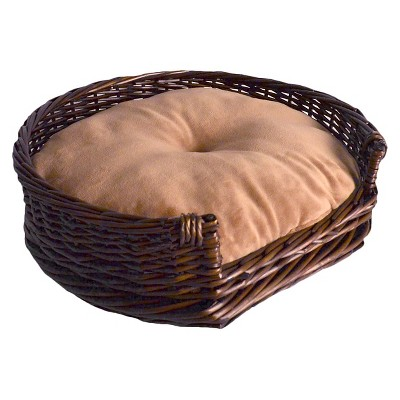 La Ti Paw™ Wicker Pet Bed - Brown Willow Wicker (Medium)