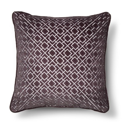 Tonal Square Pillow Gray - Fieldcrest™