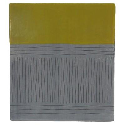 Decorative Sculpture Threshold Yellow Black White Terra Cotta