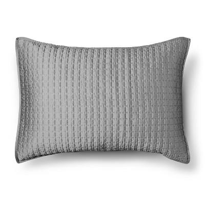 Tonal Stitch Sham Standard - Gray - Fieldcrest™
