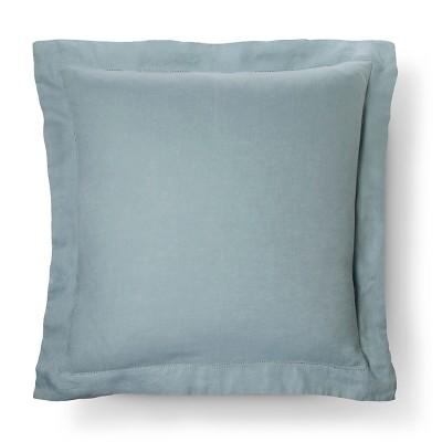 Linen Pillow Sham (Euro) Aqua - Fieldcrest™