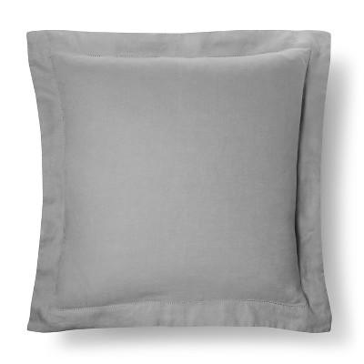 Linen Pillow Sham (Euro) Gray - Fieldcrest™