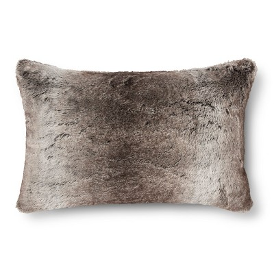Fur Oblong Pillow - Brown - Fieldcrest™