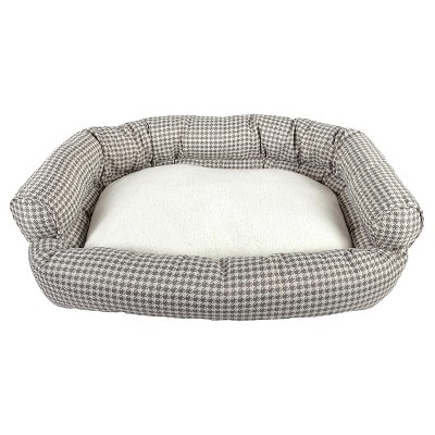 La Ti Paw™ Couch Pet Bed - Gray Houndstooth (Large)