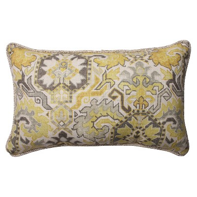 "Pillow Perfect Madrid Sunrise/Tweak Mica Rectangular Throw Pillow - Grey (18.5x11.5"")"
