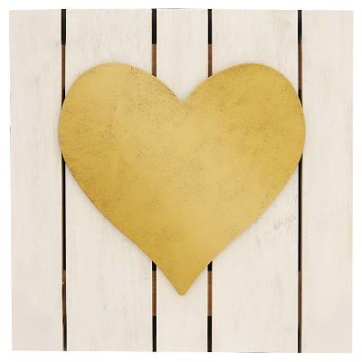 12x12 Heart Plank Art