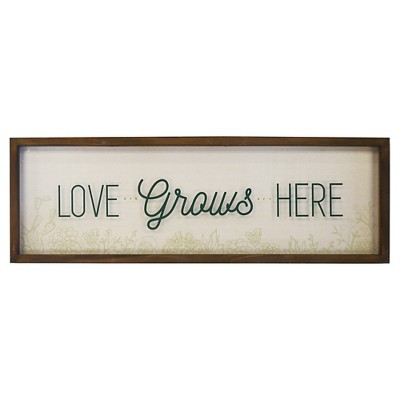 24x8 Love Grows Here Shadowbox