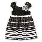 Infant Toddler Girls' Stripe Dress Ebony/White - Cherokee®
