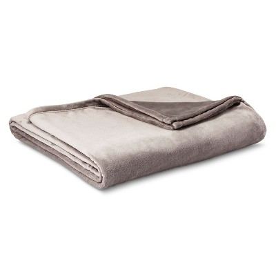 Micromink Blanket Gray (Full/Queen) - Room Essentials™