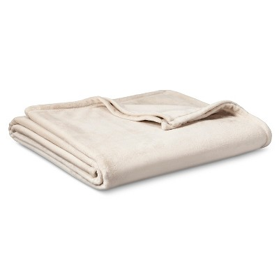 Micromink Blanket Tan (Full/Queen) - Room Essentials™