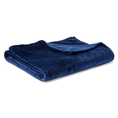 Micromink Blanket Navy (Full/Queen) - Room Essentials™