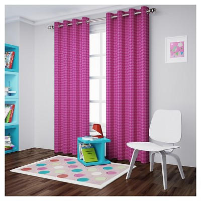 Curtain Panels Eclipse My Scene RASPBE Houndstooth