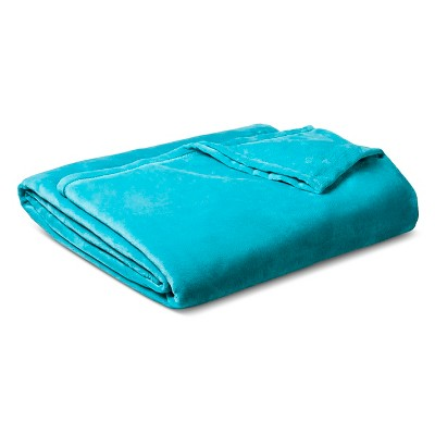Micromink Blanket Turquoise (Twin) - Room Essentials™