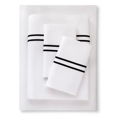 Supima Satin-Stitch Hotel Sheet Set 300 Thread Count (Full) Ebony - Fieldcrest™