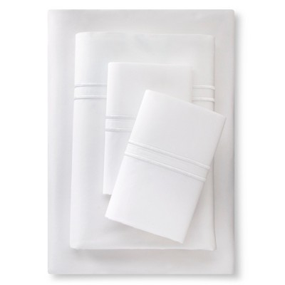 Supima Satin-Stitch Hotel Sheet Set 300 Thread Count (Full) True White - Fieldcrest™