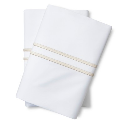 Supima Satin-Stitch Hotel Pillowcase Set 300 Thread Count (Standard) Sea Salt - Fieldcrest™