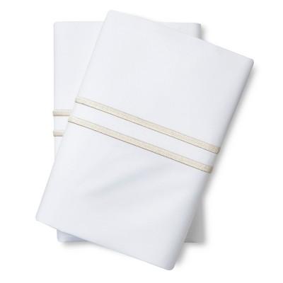 Supima Satin-Stitch Hotel Pillowcase Set 300 Thread Count (King) Sea Salt - Fieldcrest™