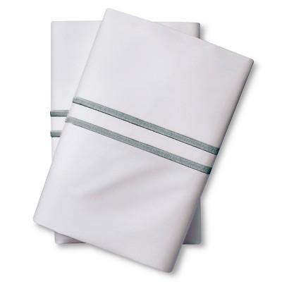 Supima Satin-Stitch Hotel Pillowcase Set 300 Thread Count (King) Aqua Spill - Fieldcrest™