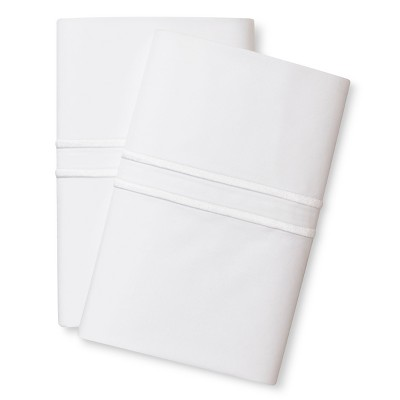 Supima Satin-Stitch Hotel Pillowcase Set 300 Thread Count (King) True White - Fieldcrest™