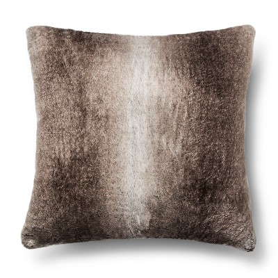 Fur Euro Pillow - Brown - Fieldcrest Luxury™